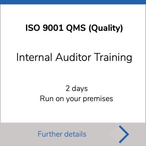ISO 9001 Internal Auditor - 2 days